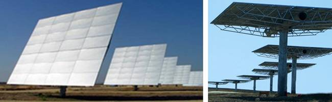 Heliostat Dual-Axis Tracking Solar Energy Reflectors