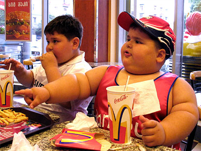 Morbidly obese kids in McDonalds